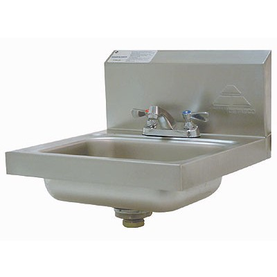 Stainless Steel Hand Sink With Deck Mounted Faucet
