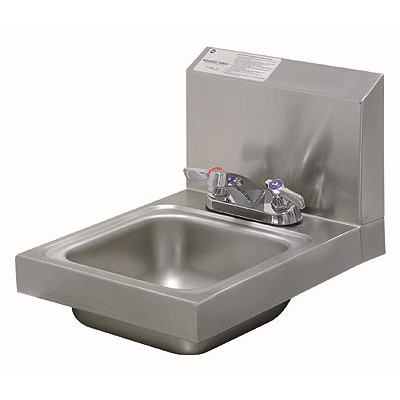 Stainless Steel Space Saver Hand Sink With Deck Mounted Faucet