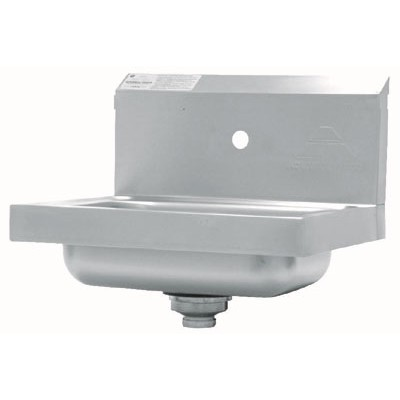 Stainless Steel Hand Sink With Single Splash Faucet Hole