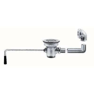 Twist Handle Lever Operated Drain With Built-In Overflow