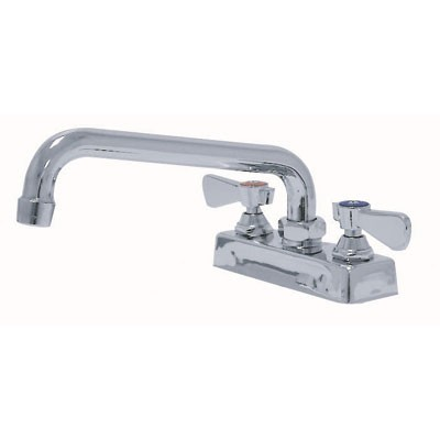 """Stainless Steel Deck Mounted Faucet With 8"""" Swing Spout"""