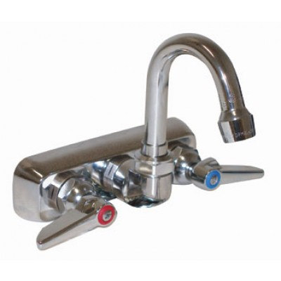 Stainless Steel Splash Mounted Heavy Duty Gooseneck Faucet
