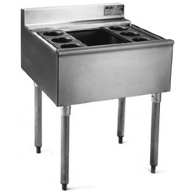 Stainless Steel Underbar Cocktail Unit With Ice Bin